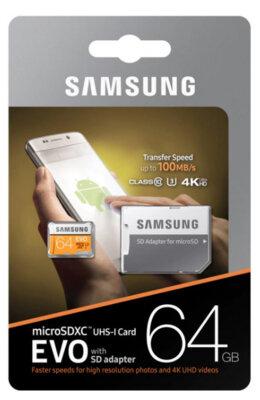 Карта пам'яті Samsung microSDXC 64GB EVO Class 10 MB-MP64GA/APC 6