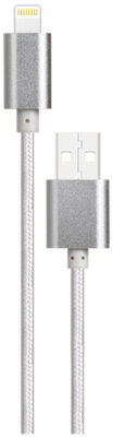 Кабель Nomi DCM 30i USB Lightning 3m Silver 1