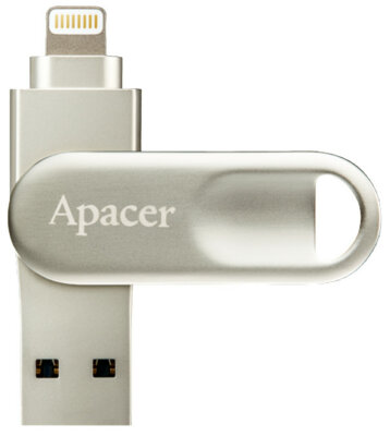 Накопичувач APACER AH790 32GB Lightning Dual Silver 1