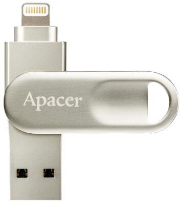 Накопитель APACER AH790 64GB Lightning Dual Silver 1