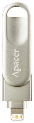 Накопитель APACER AH790 64GB Lightning Dual Silver 2