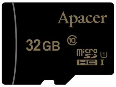 Карта памяти APACER microSDHC 32GB UHS-I U1 + adapter 1