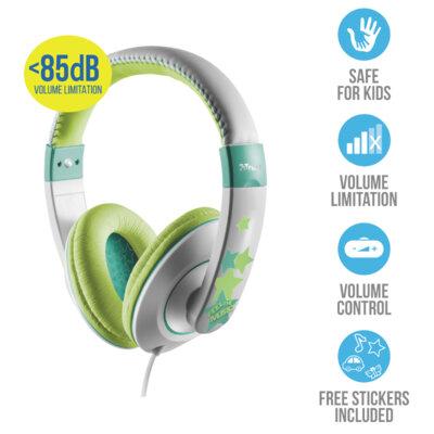 Навушники TRUST Sonin Kids Headphone Grey 7