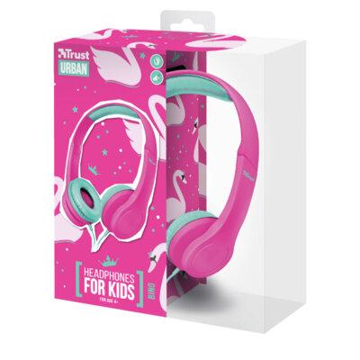 Навушники TRUST Urban Bino Kids Pink 6