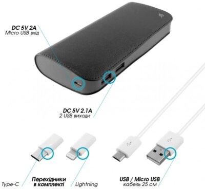 Мобильная батарея Global G.Power Bank DL515S 10000mAh Black 2