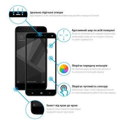 Захисне скло Global Full Glue Black для Samsung Galaxy A70 A705 2