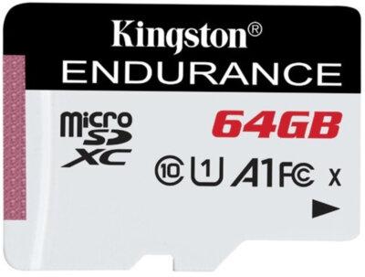Карта пам'ятi Kingston microSDXC 64GB Class 10 UHS-I A1 Endurance + SD Adapter 1