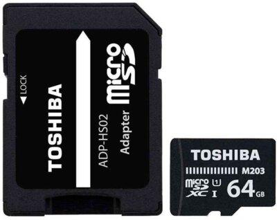 Карта пам'ятi TOSHIBA microSDXC 64GB UHS-I M203 U1 2