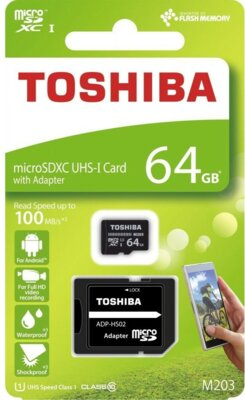 Карта пам'ятi TOSHIBA microSDXC 64GB UHS-I M203 U1 3