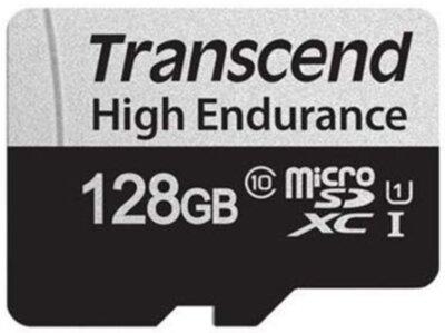 Карта пам'ятi TRANSCEND miсroSDXC 128GB UHS-I 350V High Endurance 1