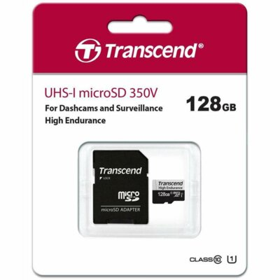 Карта пам'ятi TRANSCEND miсroSDXC 128GB UHS-I 350V High Endurance 3