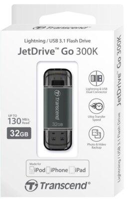 Накопитель TRANSCEND JetDrive Go 300 32GB Black 6