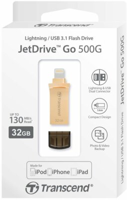 Накопитель TRANSCEND JetDrive Go 500 32GB Gold 6