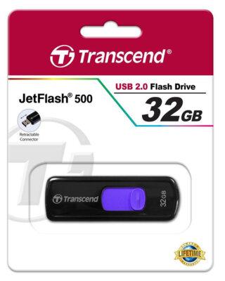 Накопичувач TRANSCEND JetFlash 500 32GB 4
