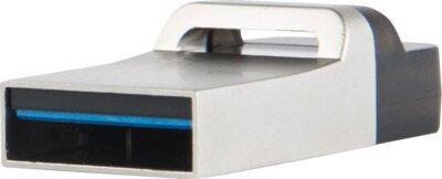 Накопитель TRANSCEND JetFlash OTG 880 32GB Metal Silver 3