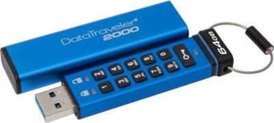 Накопитель KINGSTON DT 2000 64GB Keypad Access USB 3.1 3