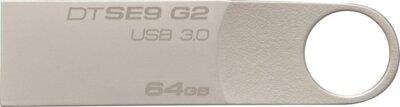USB flash накопитель Kingston DataTraveler SE9 G2 64GB Silver 1