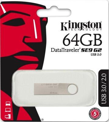 USB flash накопитель Kingston DataTraveler SE9 G2 64GB Silver 3