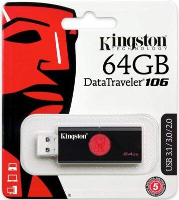 Накопитель KINGSTON DT106 64GB USB 3.0 4