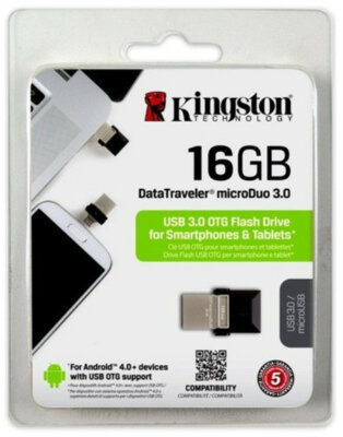 Накопитель KINGSTON DT MicroDuo 16GB OTG USB 3.0 7