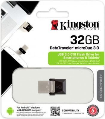 Накопитель KINGSTON DT MicroDuo 32GB OTG USB 3.0 5