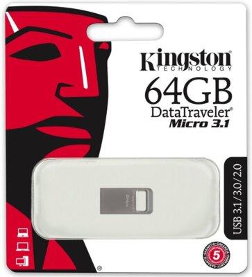 Накопитель KINGSTON DT Micro 64GB USB 3.1 5