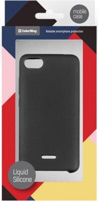Чехол ColorWay для Xiaomi Redmi 6A Liquid Silicone Black 4
