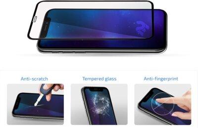 Защитное стекло 2E 2.5D Black border FG для Huawei P Smart 2019 (2E-TGHW-PS19-25D-BB) 3