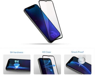 Защитное стекло 2E 2.5D Black border FG для Huawei P Smart 2019 (2E-TGHW-PS19-25D-BB) 4