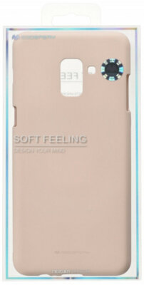 Чохол Goospery для Galaxy A8+ 2018 (A730) SF Jelly Pink Sand (8809550413542) 3