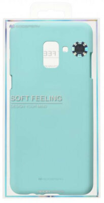 Чехол Goospery для Galaxy A8+ 2018 (A730) SF Jelly Mint (8809550413559) 3