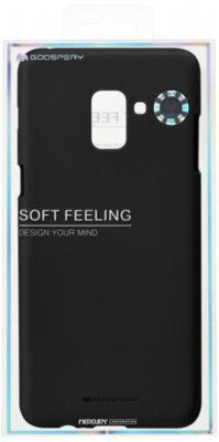 Чохол Goospery для Galaxy A8+ 2018 (A730) SF Jelly Black (8809550413511) 3