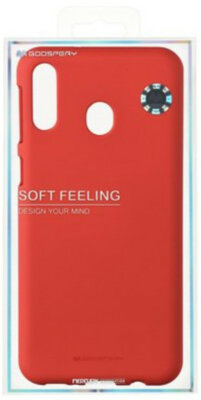 Чехол Goospery для Galaxy M20 (M205) SF JELLY Red (8809661780717) 3