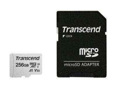 Карта пам'яті Transcend microSDXC 256GB Class 10 UHS-I R95/W45MB/s + SD-адаптер 1