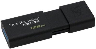 Накопитель Kingston USB 3.0 128GB DT 100 G3 Black 1