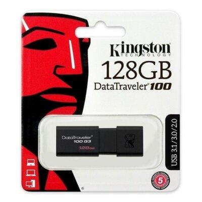 Накопитель Kingston USB 3.0 128GB DT 100 G3 Black 3