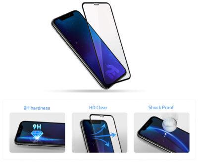 """Захисне скло 2E iPhone XS 5.8"""" 3D black border FG (2E-TGIP-2018-5.8-3D) 3"""