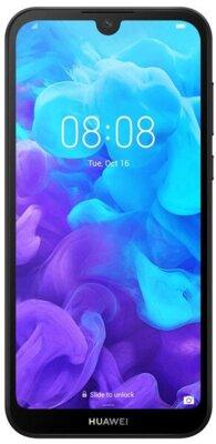 Смартфон Huawei Y5 2/16 2019 (AMN-LX9) Black Faux Leather 1