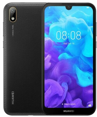 Смартфон Huawei Y5 2/16 2019 (AMN-LX9) Black Faux Leather 3