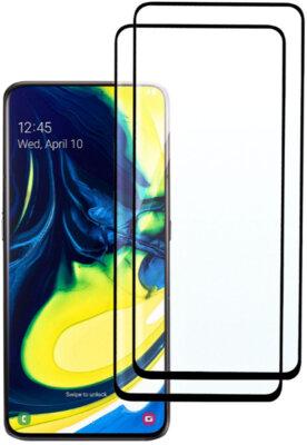 Комплект захисних стекол 2E для Galaxy A80(A805)/A90(A905) FCFG Black 1