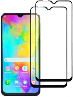 Комплект захисних стекол 2E для Galaxy M20 (M05) 2.5D FCFG Black Border 1