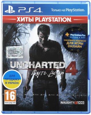 Игра Uncharted 4: Путь вора (PS4, Русская версия) 1