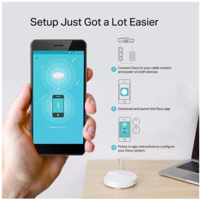 Wi-Fi система TP-LINK DECO M9 plus 1 pcs AC2200, 2xGE LAN/WAN, 1xUSB 2.0, MESH, MU-MIMO, Zigbee 6