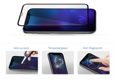 Комплект защитных стёкол 2E для Galaxy A51(A515) 2.5D FCFG Black border 3