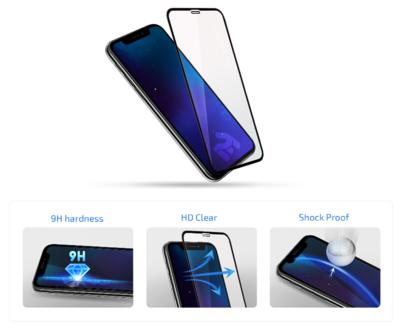 Комплект защитных стёкол 2E для Galaxy A51(A515) 2.5D FCFG Black border 4
