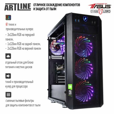 Системний блок ARTLINE Gaming X95v35 Black 3