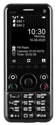 Мобильный телефон 2E E240 POWER DS Black 1