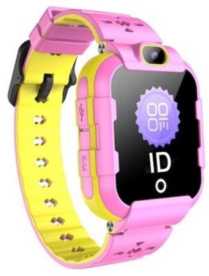 Детские телефон-часы с GPS трекером GOGPS ME K22 Розовые 1