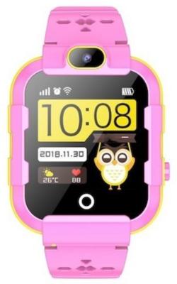 Детские телефон-часы с GPS трекером GOGPS ME K22 Розовые 2
