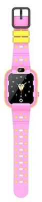 Детские телефон-часы с GPS трекером GOGPS ME K22 Розовые 3